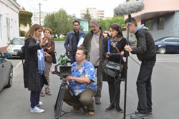 Filming in Bucharest / OMUL (HUMAN) © 2013 Triarte International, Lanapul Film, HiFi-Filmproduction